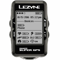 Lezyne Super Cycling GPS Computer with Bike X-Lock Standard Mount & USB Cable