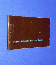VTG 1970 Polaroid Instant Land Pack Camera Auto 101 Instruction Manual Booklet