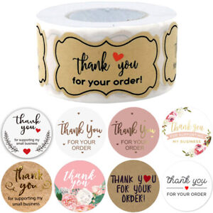 500Pcs Round Thank You For Your Business Handmade Stickers Labels Round Wedding