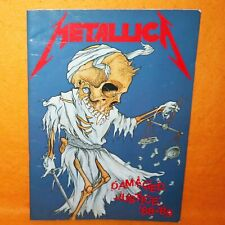 METALLICA DAMAGED JUSTICE TOUR '88 - '89 CONCERT PROGRAMME PROGRAM BOOK