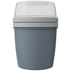 WELLGRO Müslibecher To Go Joghurtbecher m. Müslifach BPA-frei Hergestellt in EU