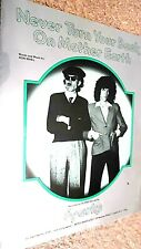 SPARKS: NEVER TURN YOUR BACK ON MOTHER EARTH (SHEET MUSIC)