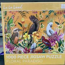 Floral Paradiso australia Jigsaw Puzzle 1000 Piece game Kookaburra Cockatoo Bird