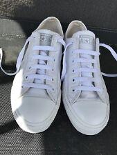 Womens White Leather Converse-size 5 Uk