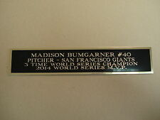 Madison Bumgarner Giants Nameplate For An Autographed Baseball Photo 1.5 X 6