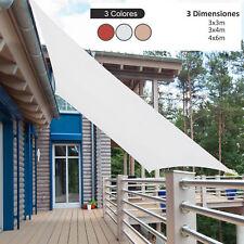Toldo de Vela Rectangular para Jardín y Exterior Repelente al Agua Protección UV