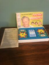 """1972 """"ALL IN THE FAMILY"""" Archie Bunker's Card Game Milton Bradley * Complete VG!"""