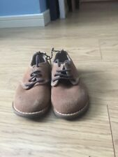 Brand new H&M Baby Boys Brown Suede Shoes Size Infant