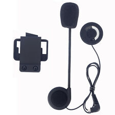 Stereo Headset Boom Mic+Clip for 500m FDC Bluetooth Motocycle Helmet Intercom