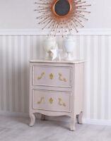 Kommode Rosa Gold Nachtkommode Barock Nachtschrank Schrank Antik Nachttisch