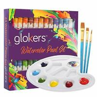Watercolor Paint Set 24 Colors by Glokers | Arts and Craft Supplies