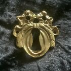 Decorative Vintage Brass Swag Escutcheon, Keyhole Cover. Furniture Restoration