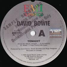 David Bowie ORIG OZ Promo 45 Tonight NM '84 EMI AMI1392 Art Rock