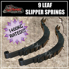 9 LEAF SLIPPER SPRING PAIR, CAMPER/ TRAILER PART 1400KG. HEAVY DUTY