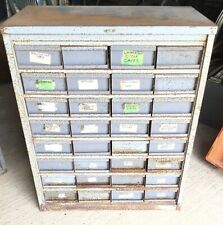 """More details for vintage industrial metal storage cabinet: 32 x drawers: 42 x 34.5 x 19"""""""