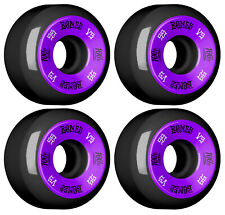 Bones Skateboard Wheels 55mm 100's V5 Sidecut Black 100A