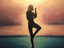 abstract man large oil painting canvas yoga tai chi martial arts original modern