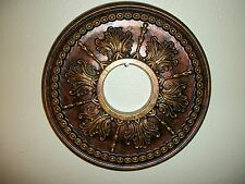 CEILING MEDALLION TUSCAN LIGHT FAN PAINTED DECOR GOLD BRONZE COPPER 14
