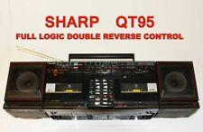 BOOMBOX GHETTOBLASTER RARE dbl K7 auto reverse SHARP QT-95H (BK) fonctionne LIRE