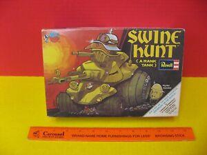 1970 REVELL DAVE DEAL'S WHEELS - SWINE HUNT - A RANK TANK - MODEL KIT BOX - RARE