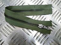 "Genuine British Military Issue  9"" Closed End Green Zip / Zipper H Duty Zpm32"
