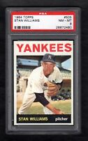 1964 TOPPS #505 STAN WILLIAMS YANKEES PSA 8 NM/MT CENTERED!