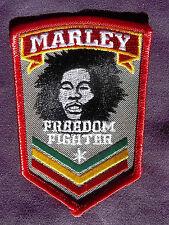 BOB MARLEY FREEDOM FIGHTER EMBROIDERED PATCH REGGAE RASTA
