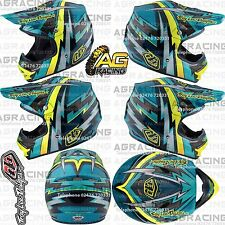 Troy Lee Designs 2017 Air Large LG L Helmet Beams Green Yellow Motocross Enduro