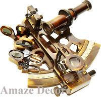 Nautical Maritime Antique Brass Ship Sextant Astrolabe Kelvin & Hughes London