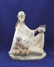 Lladro Porcelain Figurine Peruvian Girl With Baby #4822 La Cacharrera MINT w/Box