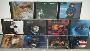 11 GARTH BROOKS CD LOT (NICE) HITS-FENCES-ROPIN-CHASE-BEYOND-PIECES-CHRISTMAS