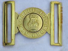 Britannique Armybelt Boucle Médaillon Cuivre, Verrou D'Attelage Laiton, All