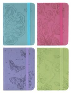 2 x Easynote Pocket Soft Touch Notebook Ruled Notepad Journal - Pastel Colour