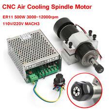 Er11 500w Cnc Air Cooling Spindle Motor 52mm Holder110v220v Speed Controller
