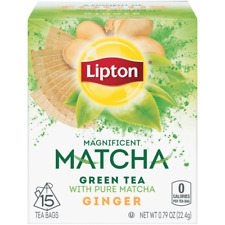 LIPTON MATCHA GREEN TEA WITH MINT 15 TEA BAGS FREE SHIPPING