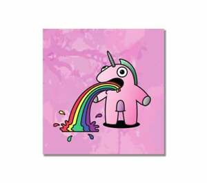 ~The Sick Unicorn - Pink Edition - Graffiti Canvas Print - Urban, Cute, Kidrobot