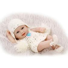 Mini Newborn Reborn Doll Lovely Vinyl Full Body Bath Baby Doll Miniature Toy 10""