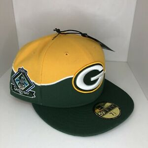 Green Bay Packers New Era 59Fifty Cap NFL Football 5950 Fitted Cap 7 1/2