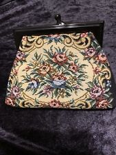 Vtg Small Clutch Tapestry & Cloth