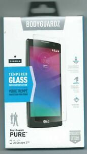 BodyGuardz Tempered Glass screen Protection for the LG Escape 2