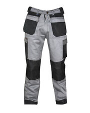 Mens Black Grey Beige Cargo Trousers Work wear trouser with free knee pads