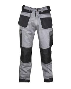 Mens Black Grey Beige Cargo Trousers Work wear trouser with free knee pads