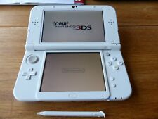 'NEW' NINTENDO 3DS XL CONSOLE WHITE + CASE + STYLUS + CHARGER IMMACULATE