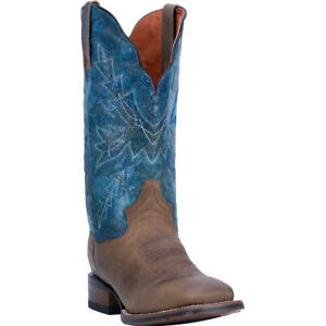 Dan Post Ladies Pasadena Brown & Blue Square Toe Boots DP4571