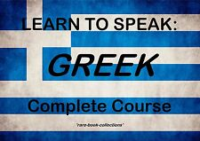 LEARN TO SPEAK GREEK - LANGUAGE COURSE - 23 HRS AUDIO MP3 & 3 BOOKS ALL ON DVD!
