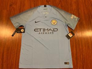 2018-19 Nike Breathe Manchester City Men's Home Soccer Jersey Large L Man City