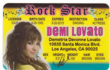 DEMI LOVATO Los Angeles California CA  novelty id card Drivers License mark