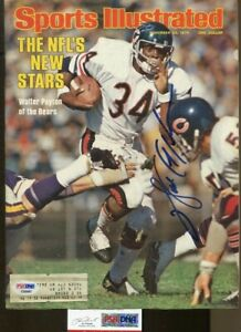 Walter Payton Signed 1976 Sports Illustrated 11/22 Autographed Bears PSA/DNA *87