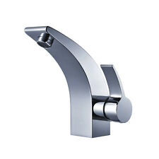 Modern Chrome Single Lever Mono Curved Basin Mixer Bathroom Taps 6207