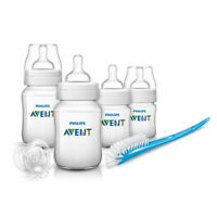 The Philips Avent Classic+ New-born Feeding Starter - 4 bottles, soother & brush